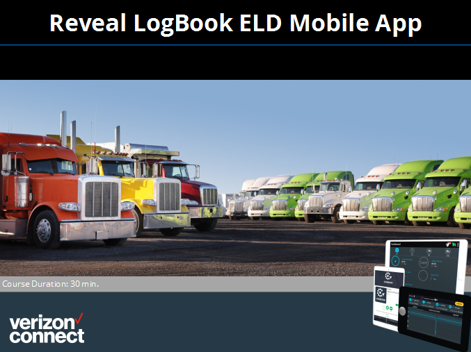 Reveal LogBook ELD Mobile App eTutorial for Drivers