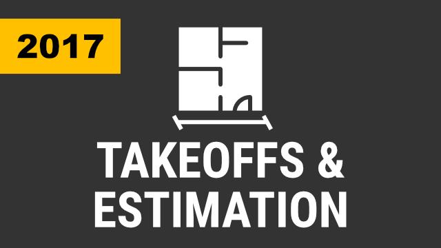 Takeoffs & Estimation (2017 & Below)