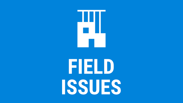 Field Issues - 2018/2019