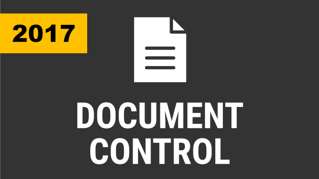 Document Control (2017 & Below)