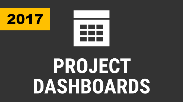 Creating Project Dashboards (2017 & Below)