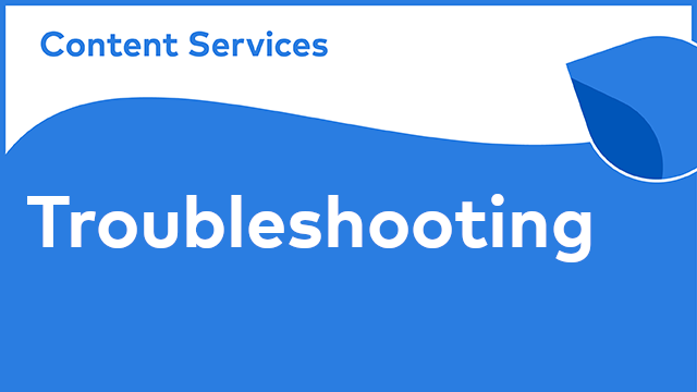 Alfresco Content Services - Troubleshooting