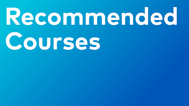Recommended Courses