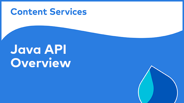 ACS Development: Java API Overview