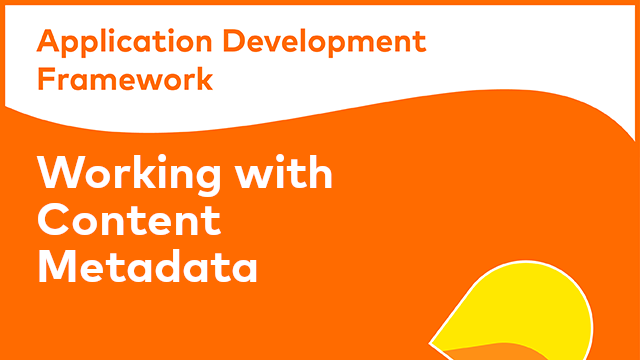 ADF Development: Working with Content Metadata Component