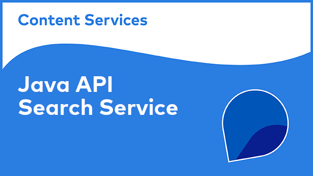 ACS Development:  Java API - Search Service
