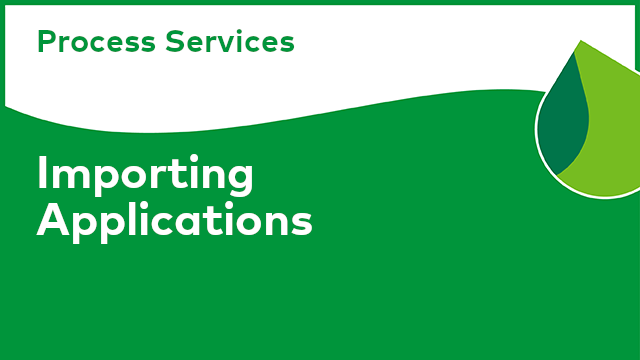Process Services: Importing Applications