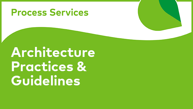 APS Architecture: Architecture Practices & Guidelines