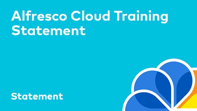 Alfresco Cloud Customer Statement