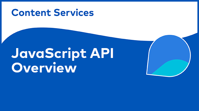 ACS Development: JavaScript API Overview