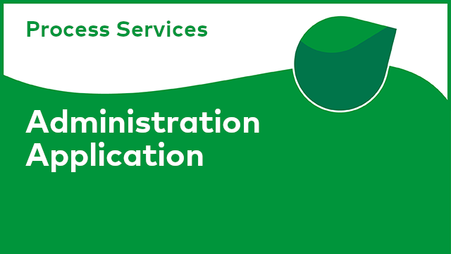 Process Services: Administration Application