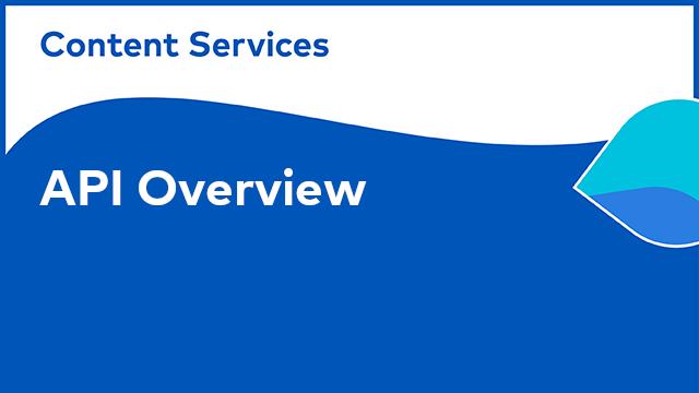 ACS Development: API - Overview