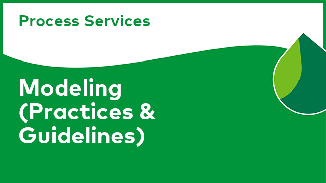 Process Services: Modeling (Practices & Guidelines)