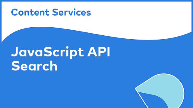 ACS Development: JavaScript API - Search