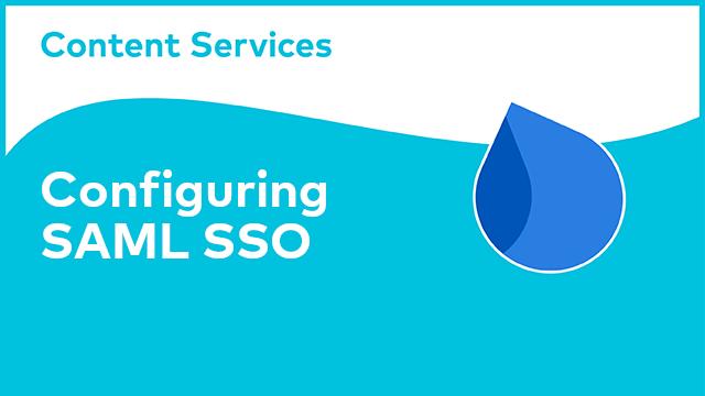 ACS Administration: Configuring SAML SSO