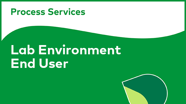 APS Lab Environment - End User