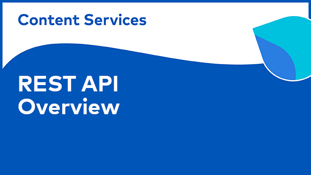 ACS Development: REST API Overview