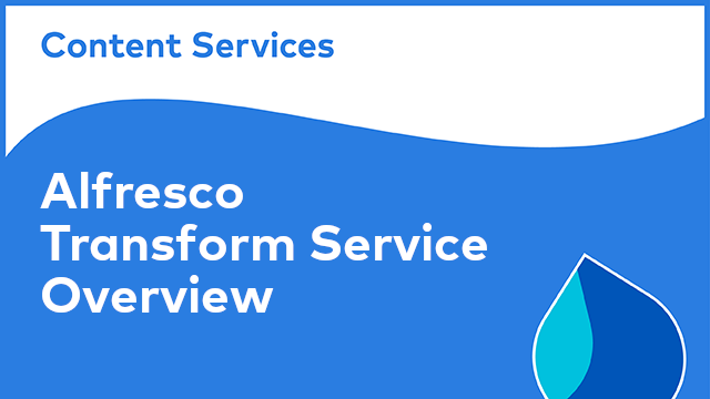 Alfresco Transform Service: Overview