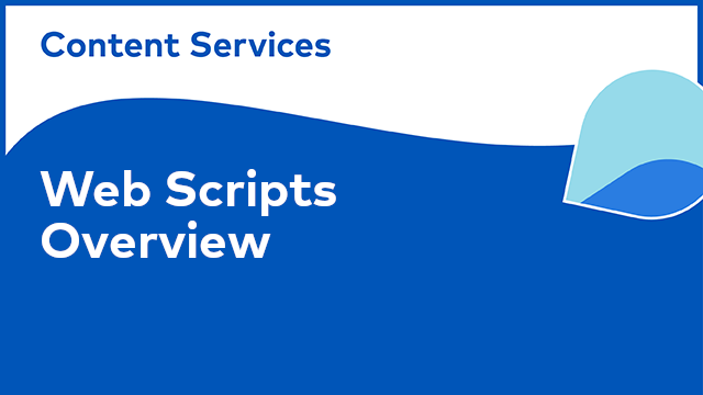ACS Web Scripts: Overview