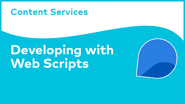 Content Services: Developing with Web Scripts