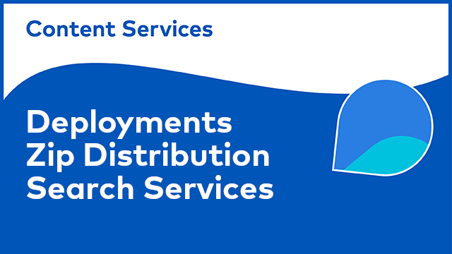 ACS Deployments: Alfresco Search Services Zip Distribution