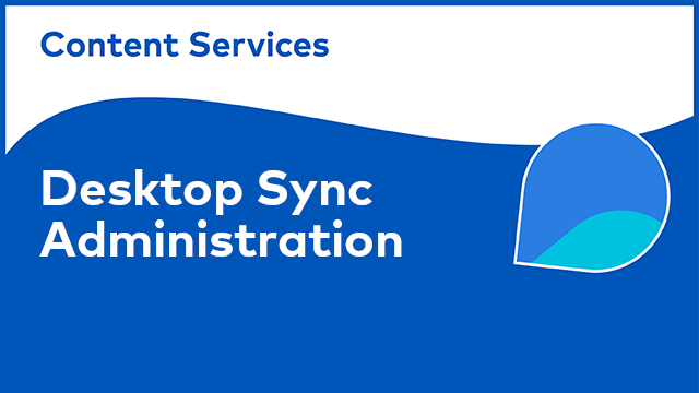 ACS Administration: Desktop Sync