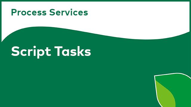 Process Services: Script Tasks