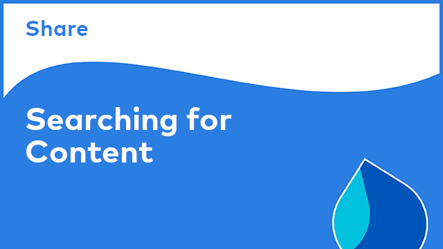 Share: Searching for Content