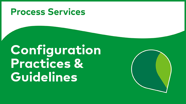 APS Configuration: Configuration Practices & Guidelines