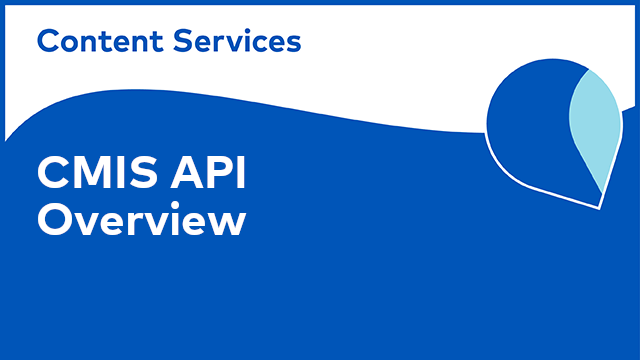 ACS Development: CMIS API - Overview