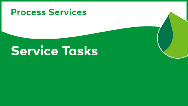 Process Services: Service Tasks