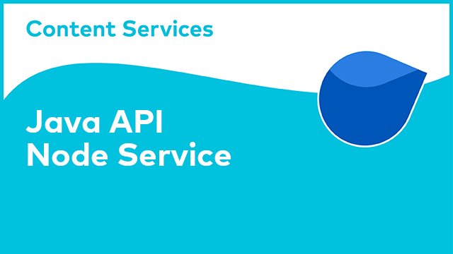 ACS Development: Java API - Node Service