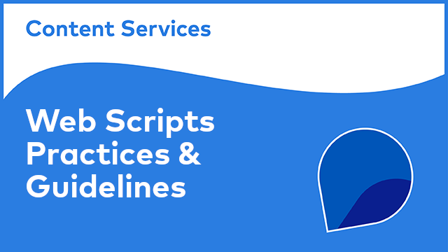 ACS Web Scripts: Practices & Guidelines
