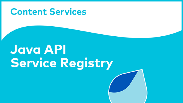 ACS Development: Java API - Service Registry