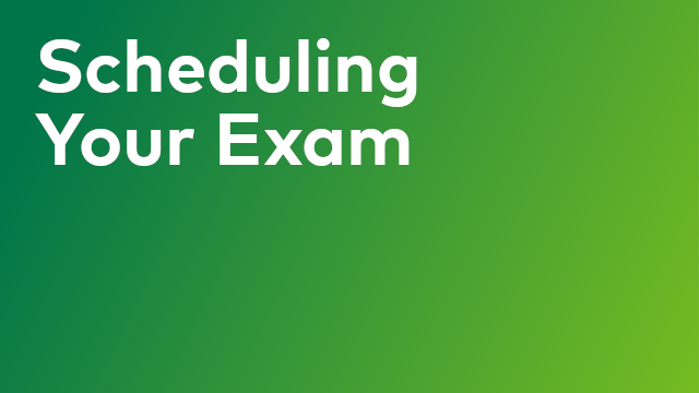Certification: Scheduling your Exam