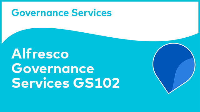 Alfresco Governance Services - GS102