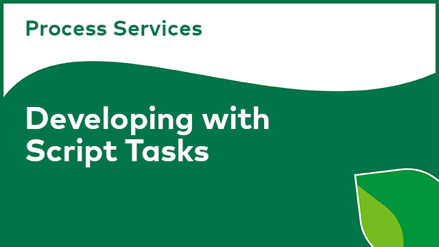 Process Services: Developing with Script Tasks