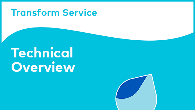 Transform Service: Technical Overview