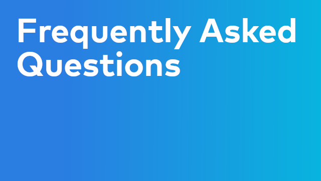 Training: Frequently Asked Questions