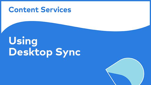 Alfresco Desktop Sync: Using