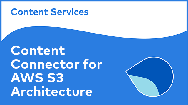 ACS Architecture: Content Connector for AWS S3