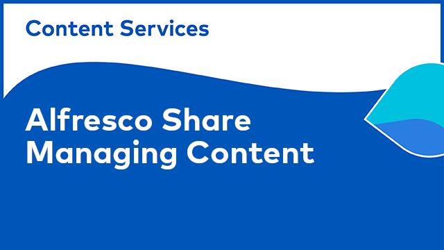 ACS Share: Managing Content