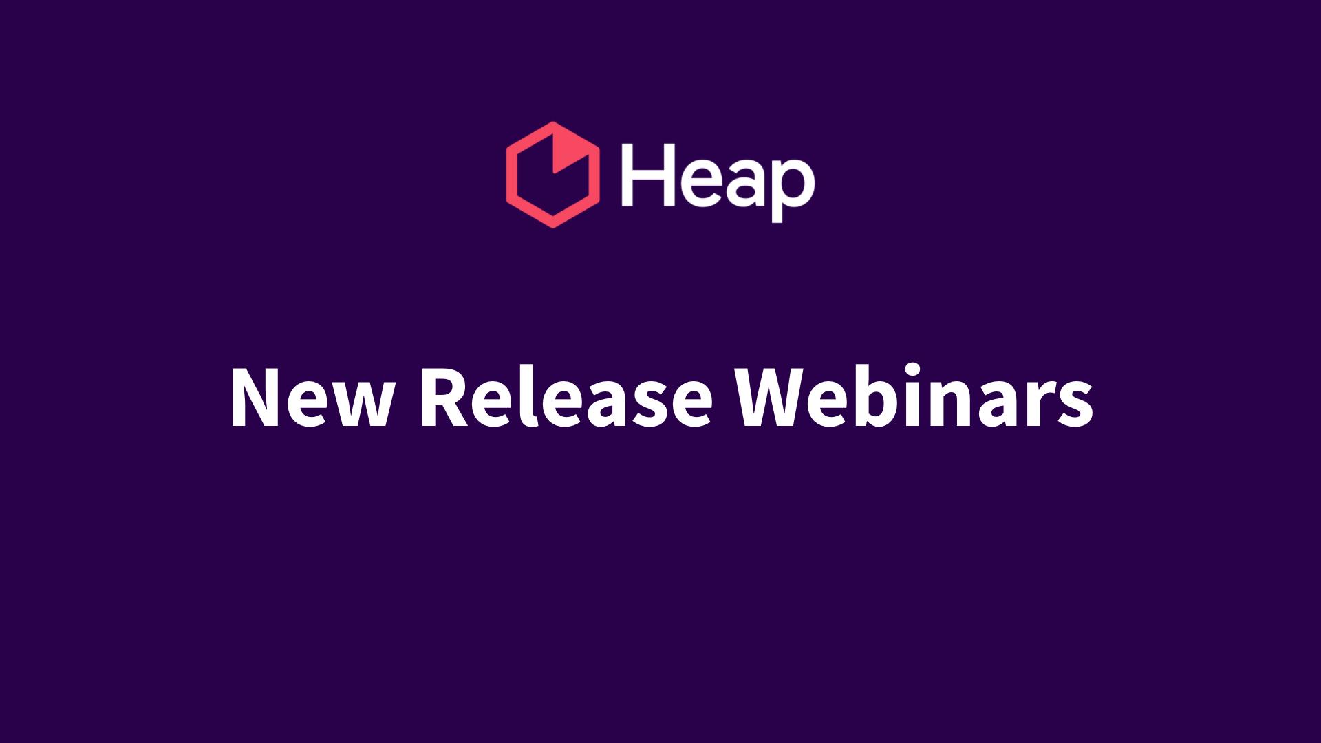 New Release Webinar Series