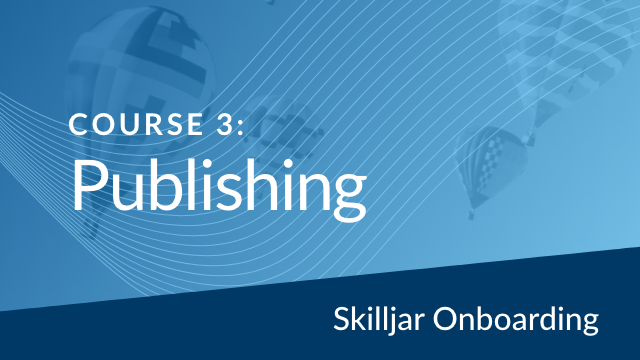 Onboarding Course 3: Publishing