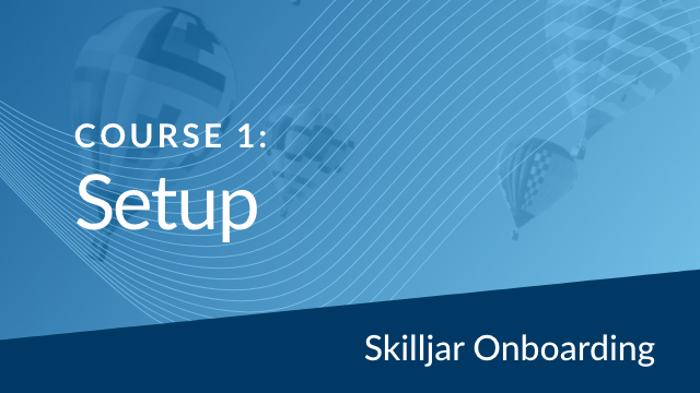 Onboarding Course 1: Setup