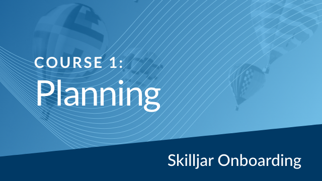 Onboarding Course 1: Planning