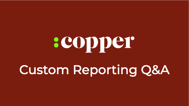 LIVE: Custom Reporting Q&A - Wednesday
