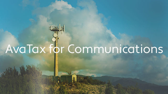 AvaTax for Communications