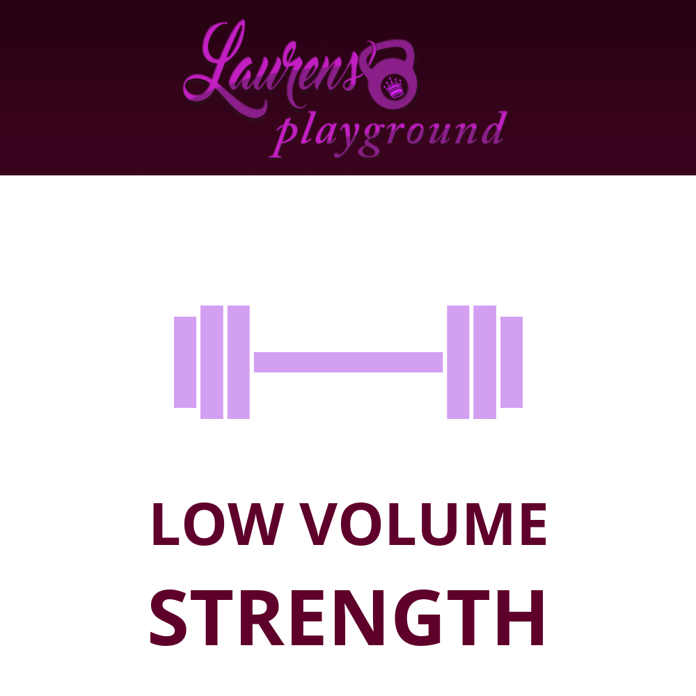 LOW VOLUME STRENGTH STREAMING and WRITTEN SERIES