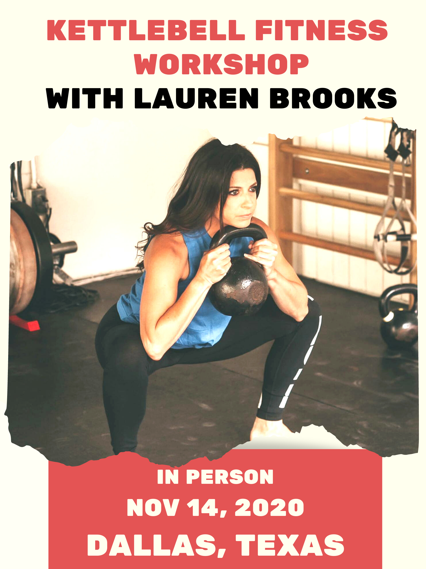Kettlebell Fitness Workshop - Dallas, Texas - IN PERSON - November 14, 2020